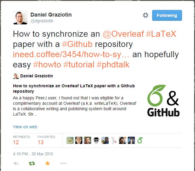 Overleaf Git Sync Daniel Graziotin
