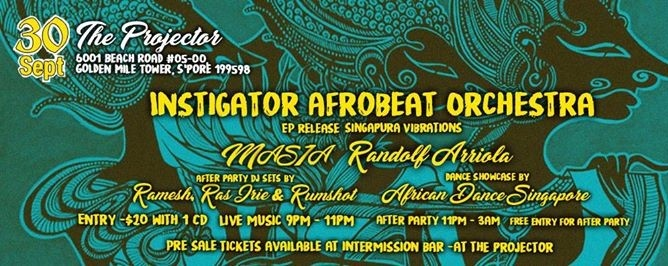 Instigator Afrobeat Orchestra Singapura Vibrations EP release
