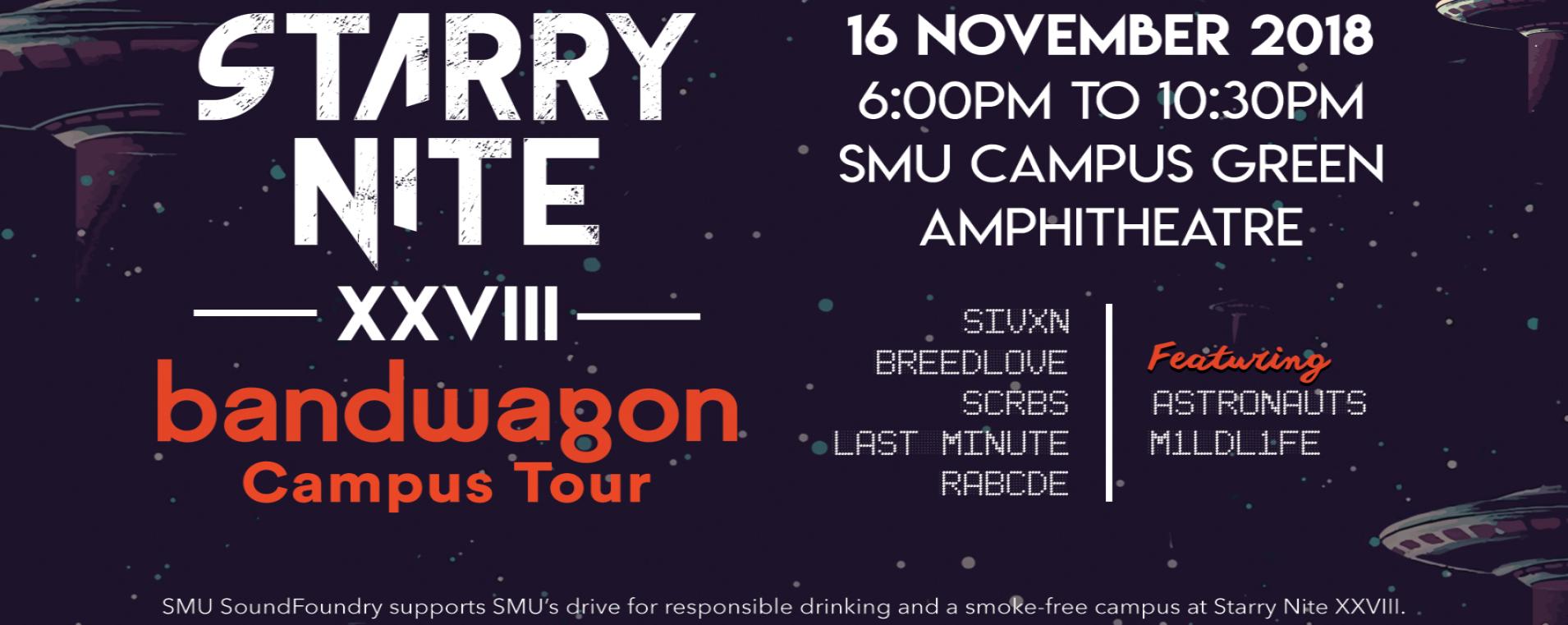 SMU Starry Nite x Bandwagon Campus Tour