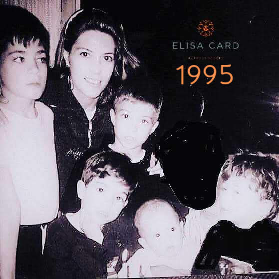 Mom Elisa with her 5 sons in 1995