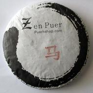 2014 Zenpuer 1407 Year of the Horse Ripe Puerh Tea Cake from PuerhShop.com