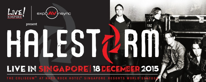 Halestorm Live in Singapore! [CANCELLED]