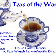 Teas of the World Value Pack of 14 samplers of Tea from Home Farm Herbery