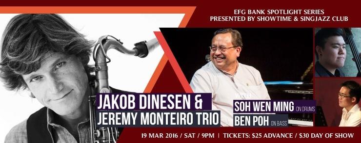 EFG Bank Spotlight Series: Jakob Dinesen & Jeremy Monteiro Trio