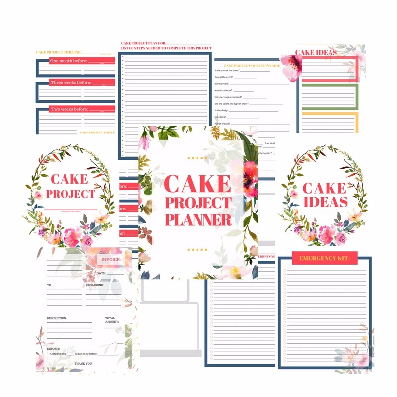 The Ultimate Cake Project Planner Printable Download ...