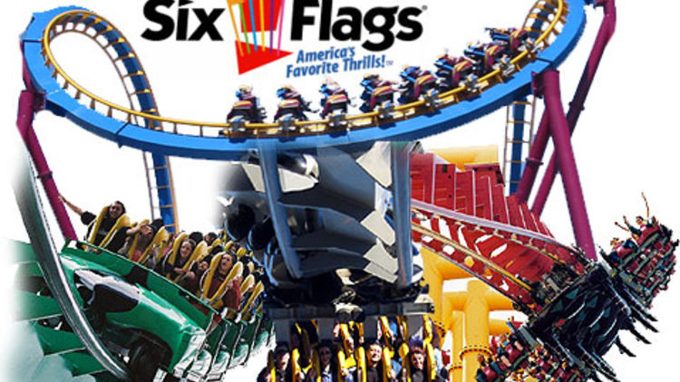 Six Flags Magic Mountain Entry Tickets