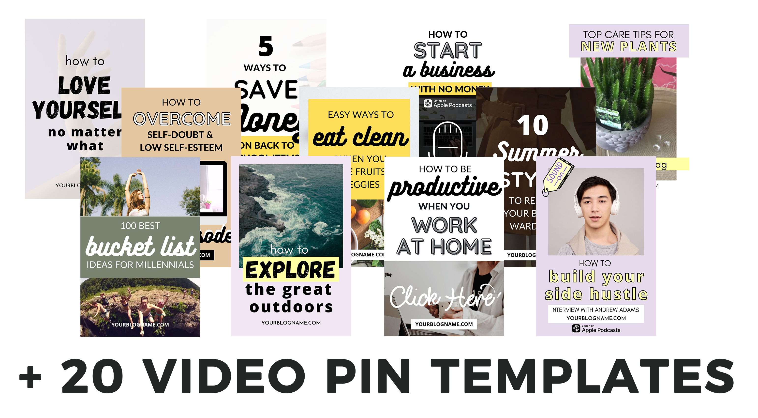 20 Video Pin Templates