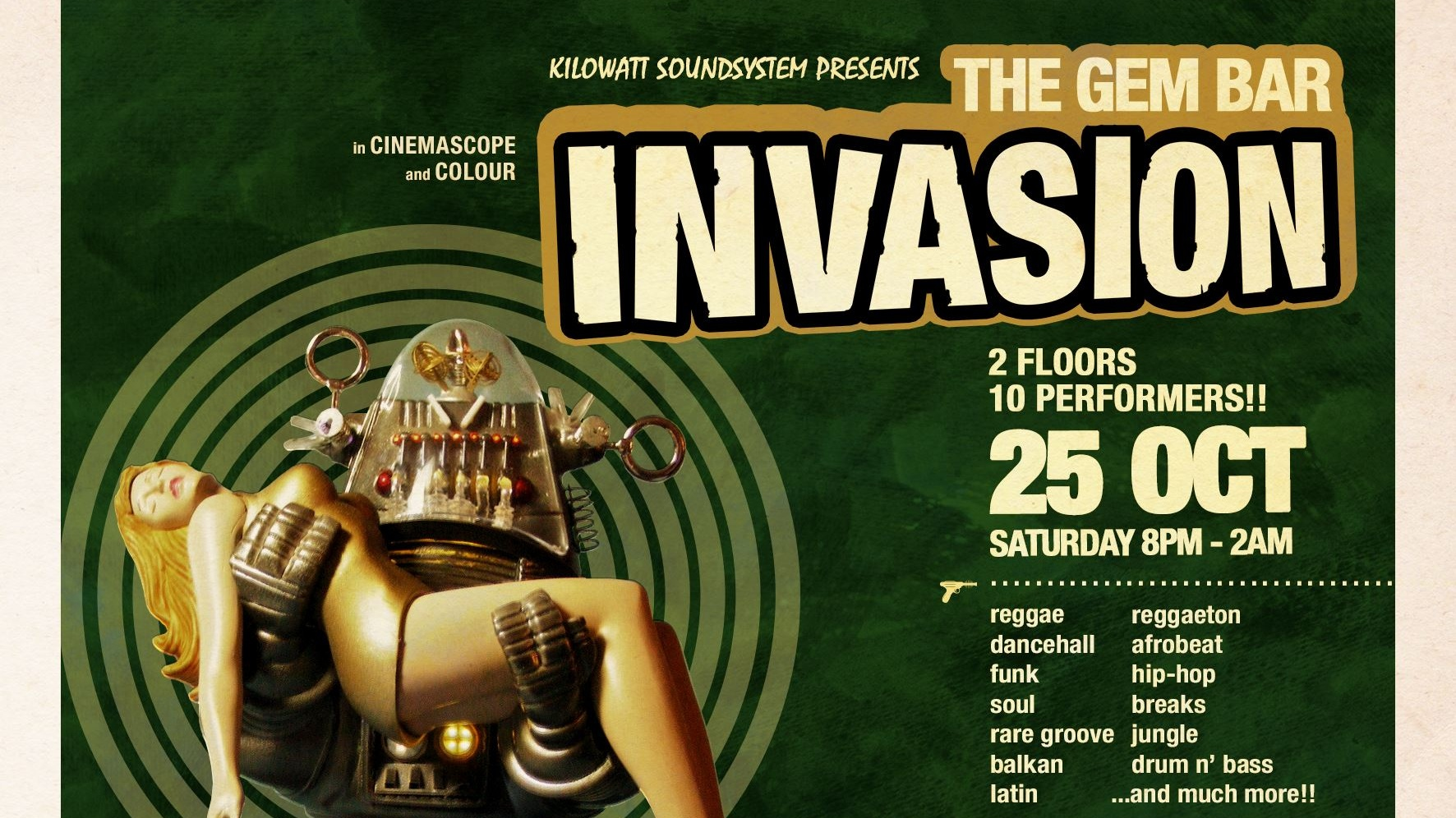 KiloWatt Soundsystem presents: The GEM Bar Invasion