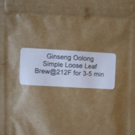 Ginseng Oolong from Simple Loose Leaf
