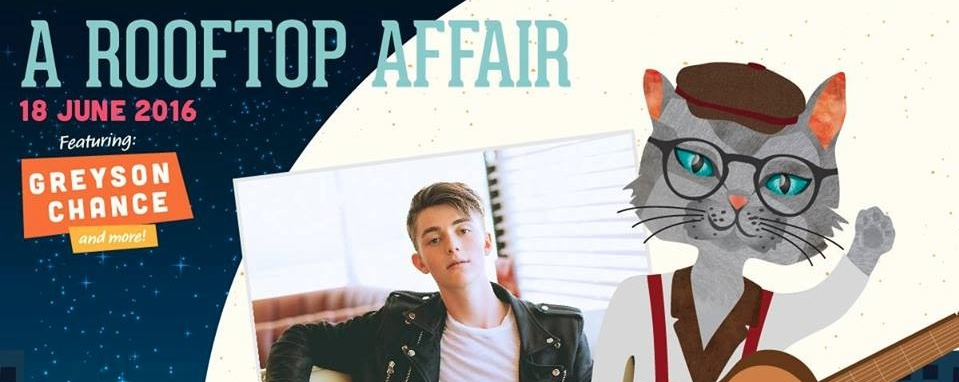 A Rooftop Affair - Greyson Chance LIVE in Singapore