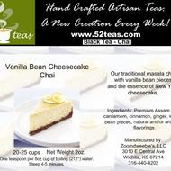 Vanilla Bean Cheesecake Chai from 52teas
