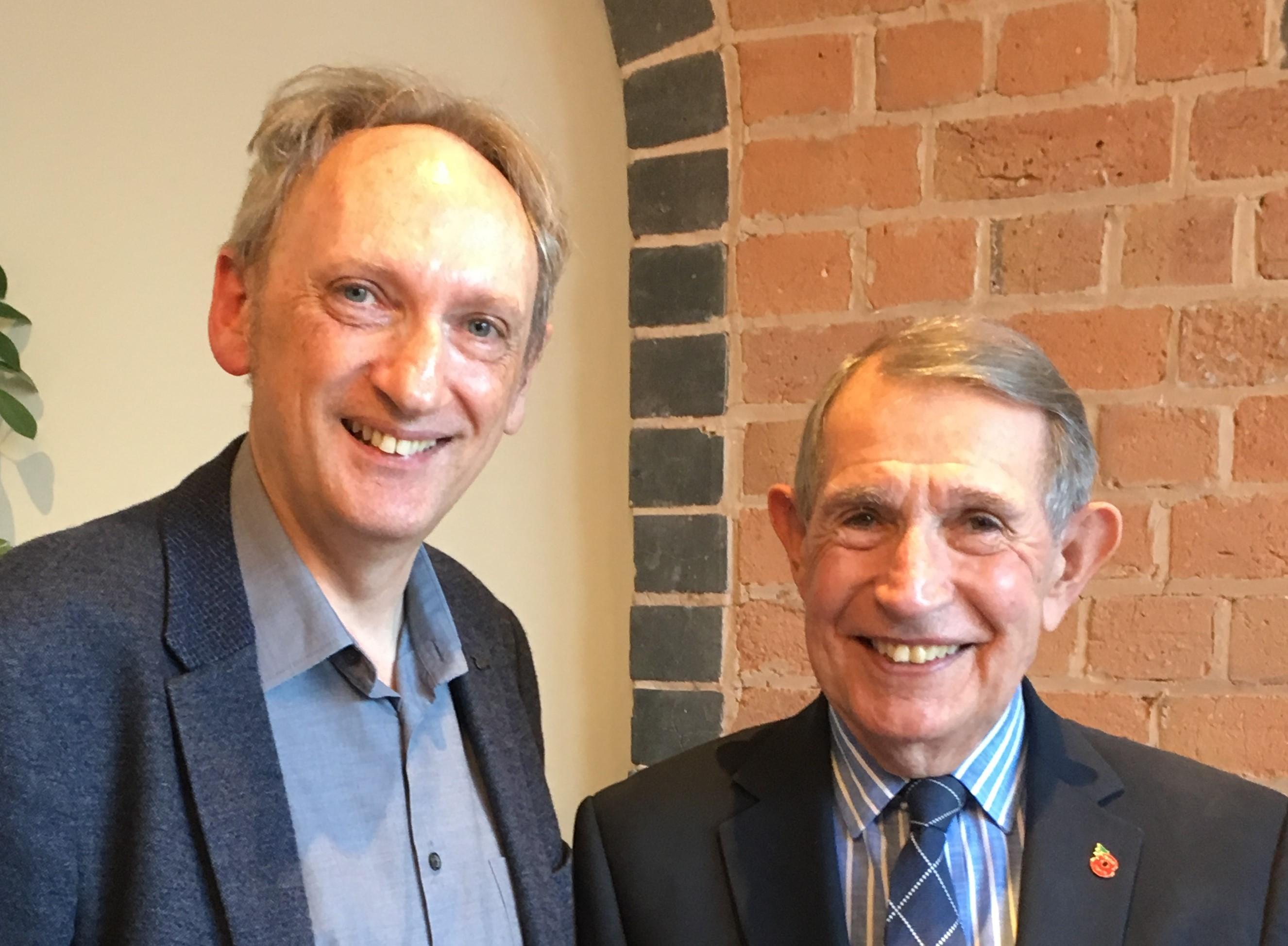 Professor Malcolm McDonald and Edmund Bradford
