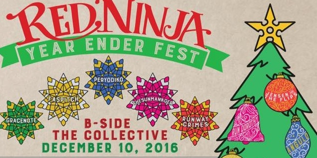 Red Ninja unveils their Year Ender Fest line up