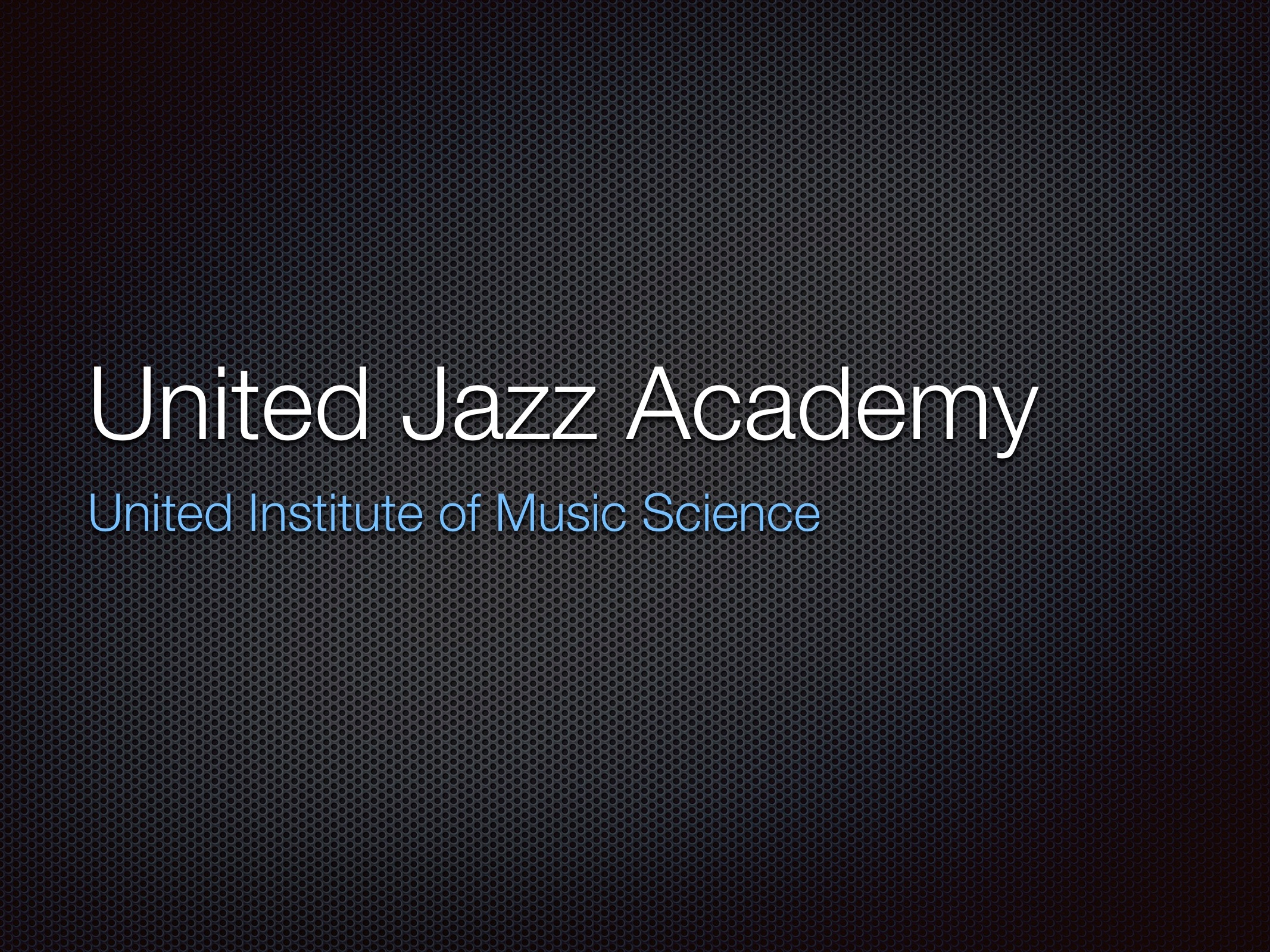 United Jazz Academy
