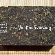2010 * Wild Tree Raw Pu-erh tea brick of Dehong from Yunnan Sourcing
