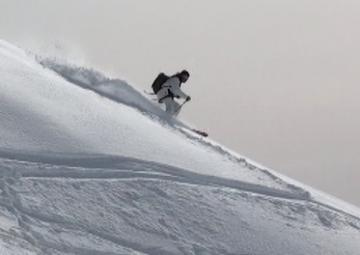 Reed shreds the gnar on the ridge
