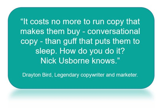 Drayton Bird on conversational copywriting and Nick Usborne