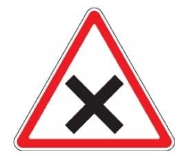 """Kelio ženklas """"lygiareikšmių kelių sankryža"""""""