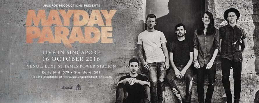Mayday Parade Live in Singapore