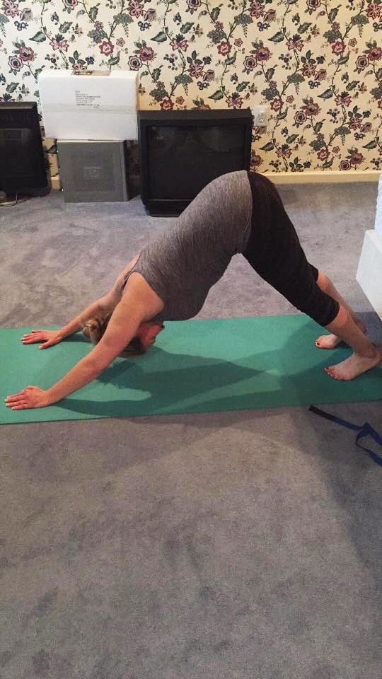Allison Sandler Devitis hitting a yoga pose | JFit.T