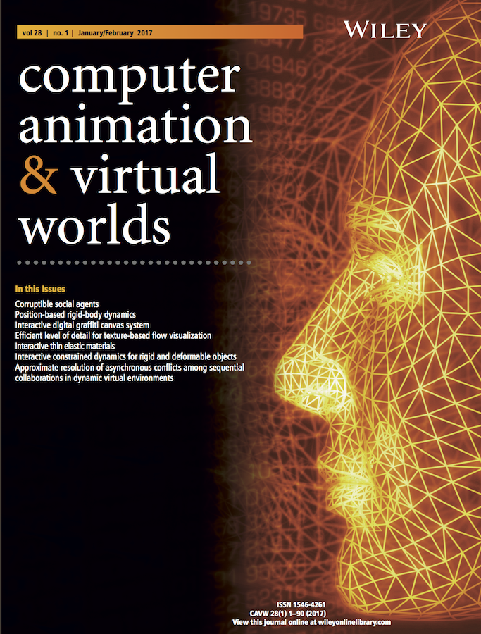 Template for submissions to computer animation and virtual for Latex book cover template