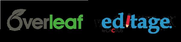 Overleaf Editage logos