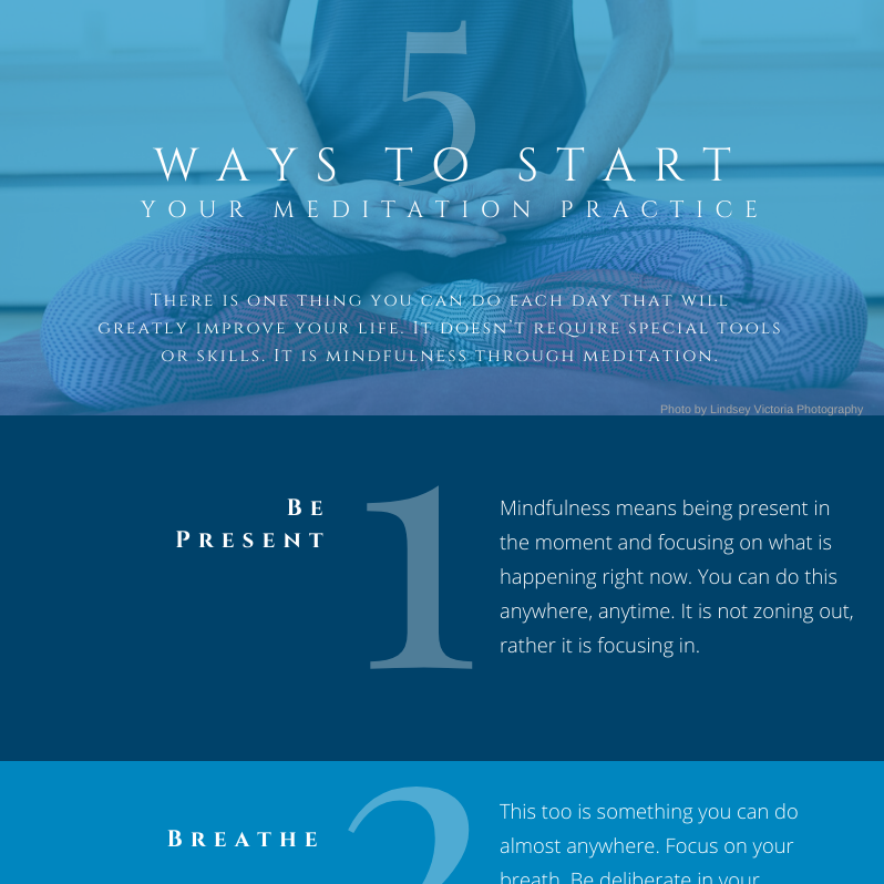 5 Ways to Start Your Meditation Practice Infographic