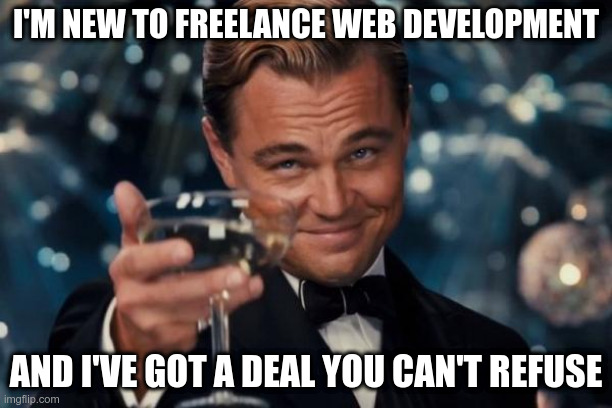 leo decaprio freelance web development offer