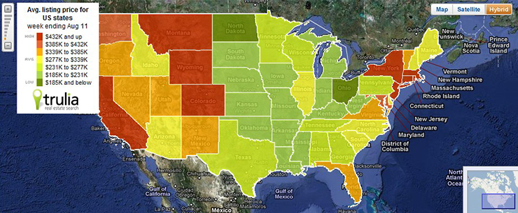US Home Prices Heat Map