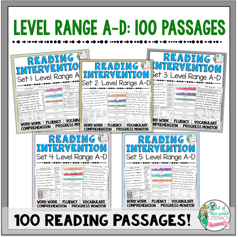 Reading intervention program sets a d jen bengel geenschuldenfo Choice Image