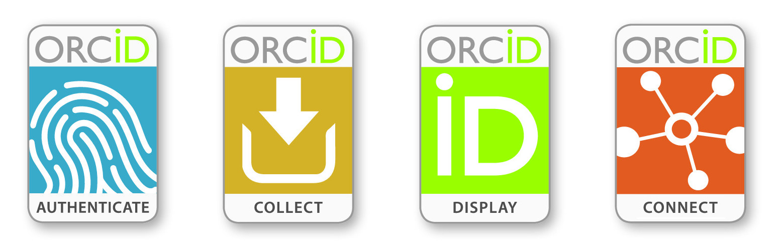 Overleaf's four ORCID badges