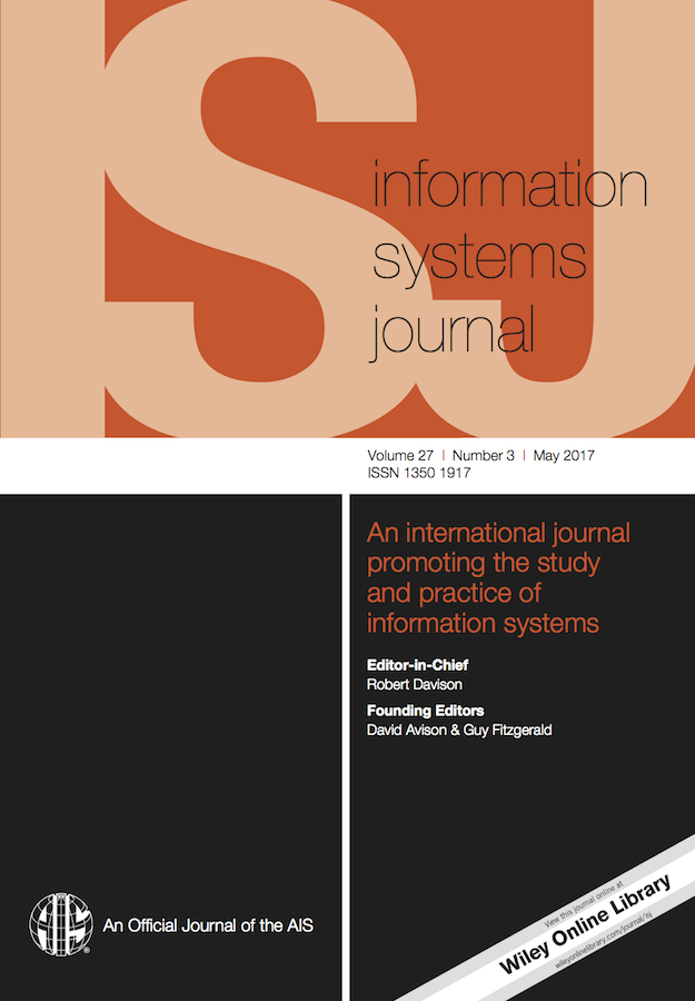 Template for submissions to Information Systems Journal