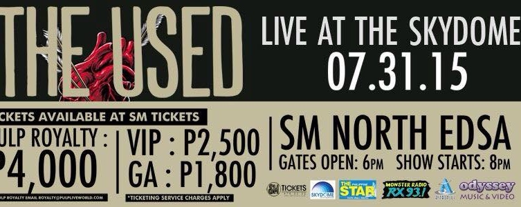 The Used Live in Manila