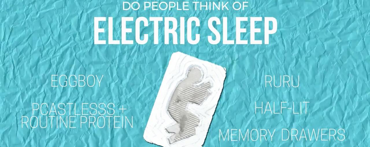 Do People Think of Electric Sleep?