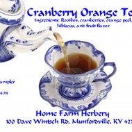 Cranberry Orange Rooibos tea from Home Farm Herbery