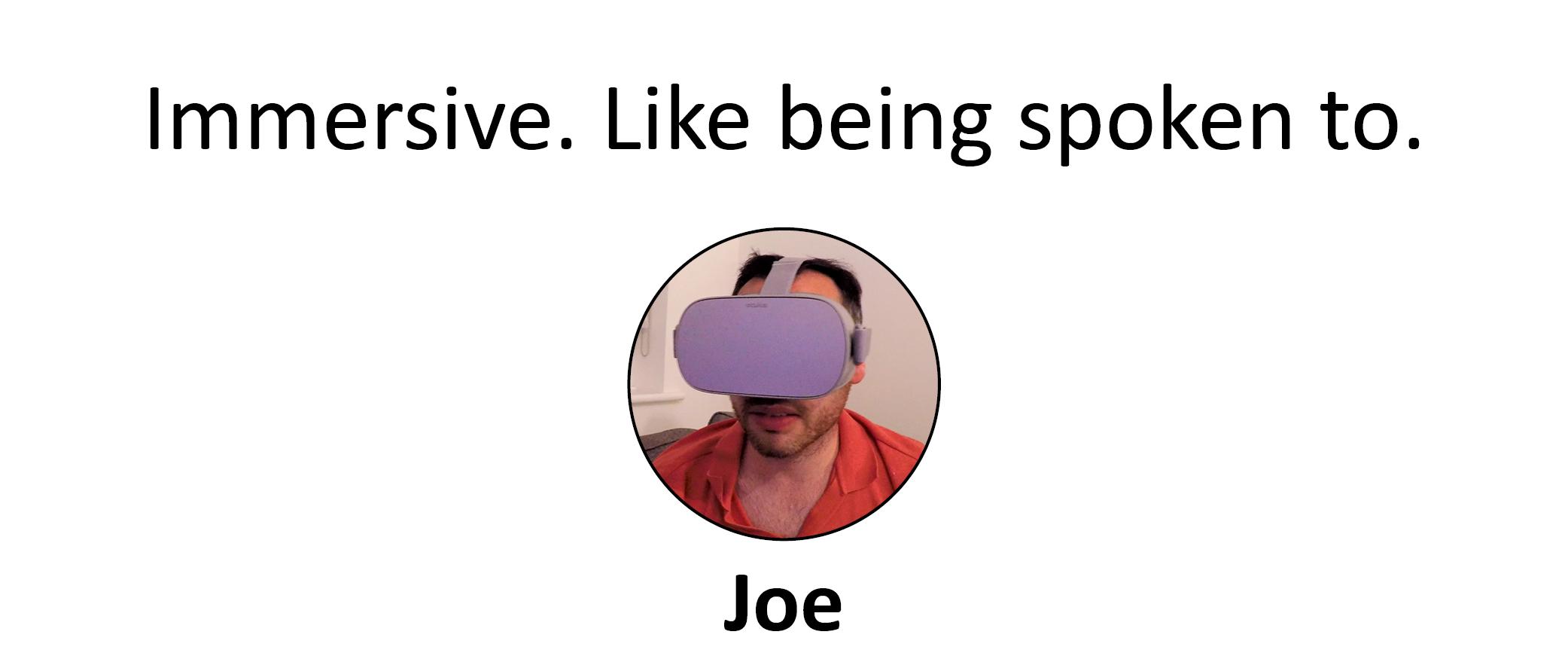 Joe Testimonial