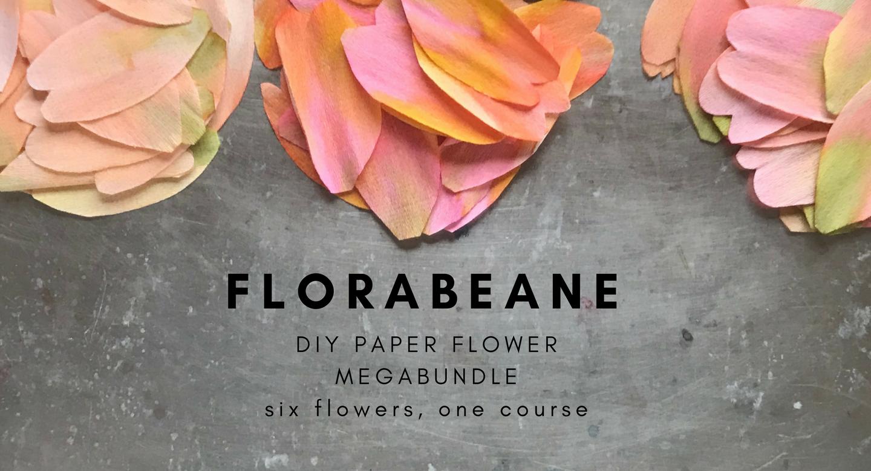 Florabeane DIY Paper Flowers Megabundle