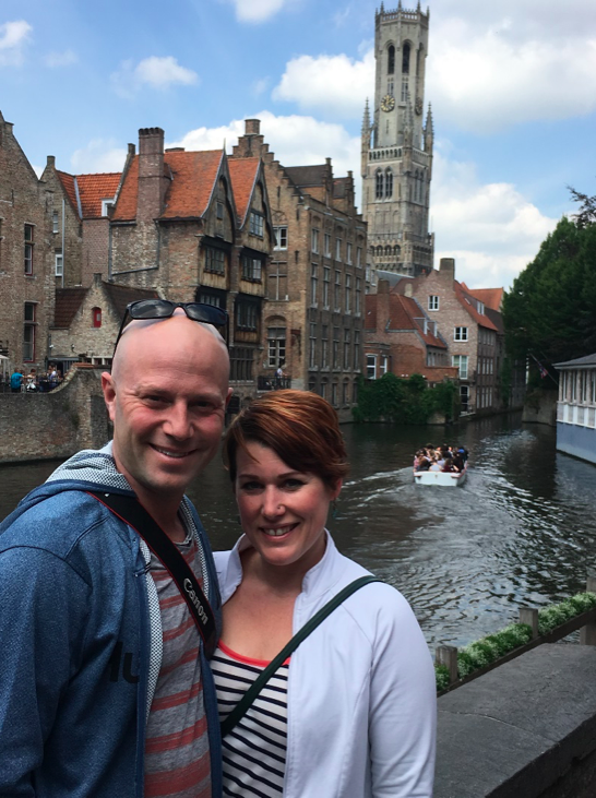 Me and John in Bruges (one of my favourite cities)