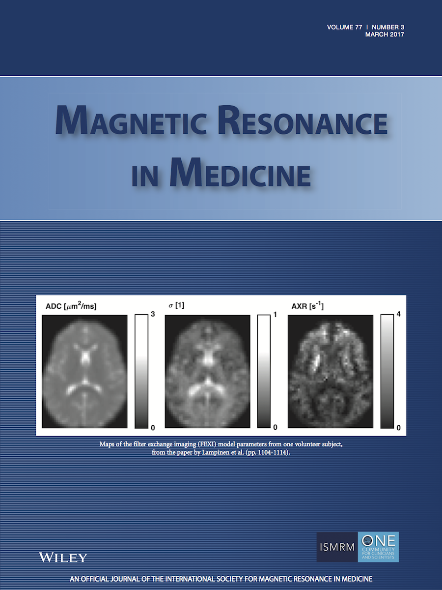 Template for submissions to Magnetic Resonance in Medicine (MRM)