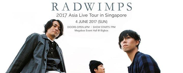 Radwimps 2017 Asia Live Tour in Singapore