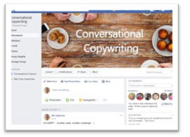 Conversational copywriting Facebook group