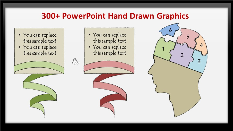 PowerPoint Hand Drawn Graphics Pack