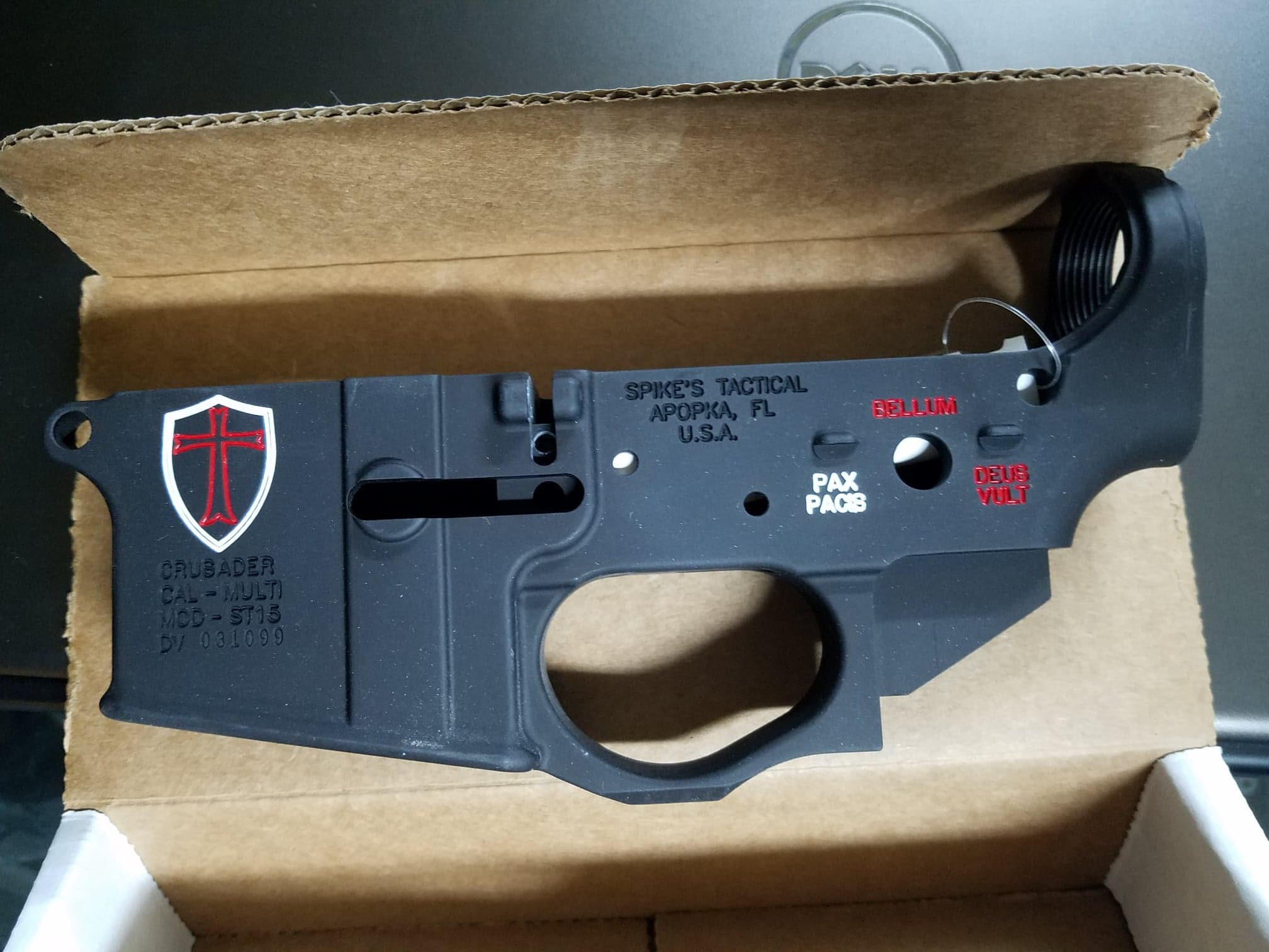 Spikes Tactical Crusader Stripped Lower Receiver / Color
