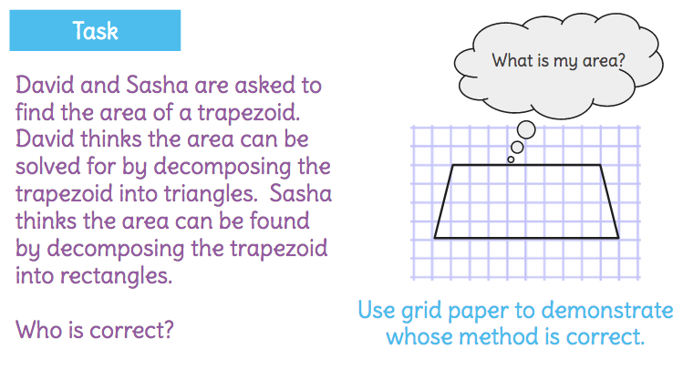 Solve For The Area Of A Trapezoid By Decomposing It Into Rectangles