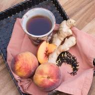 Organic Peach Tea with Ginger from Divinitea