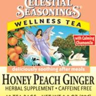 Honey Peach Ginger Wellness Tea from Celestial Seasonings