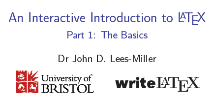 Intro to LaTeX Part 1 Cover
