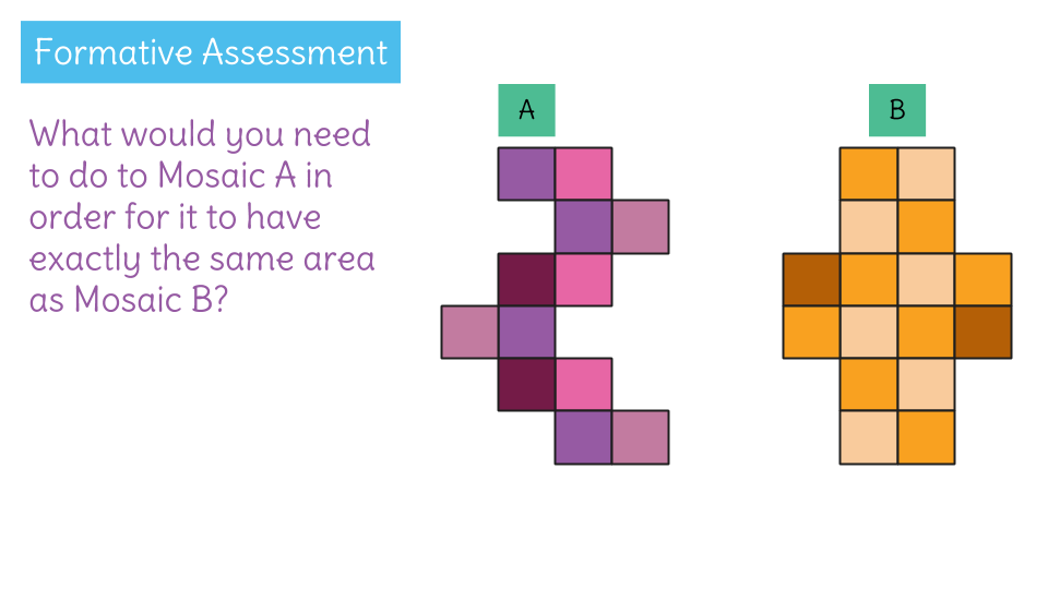 formative assessment from the lesson plan show different shapes