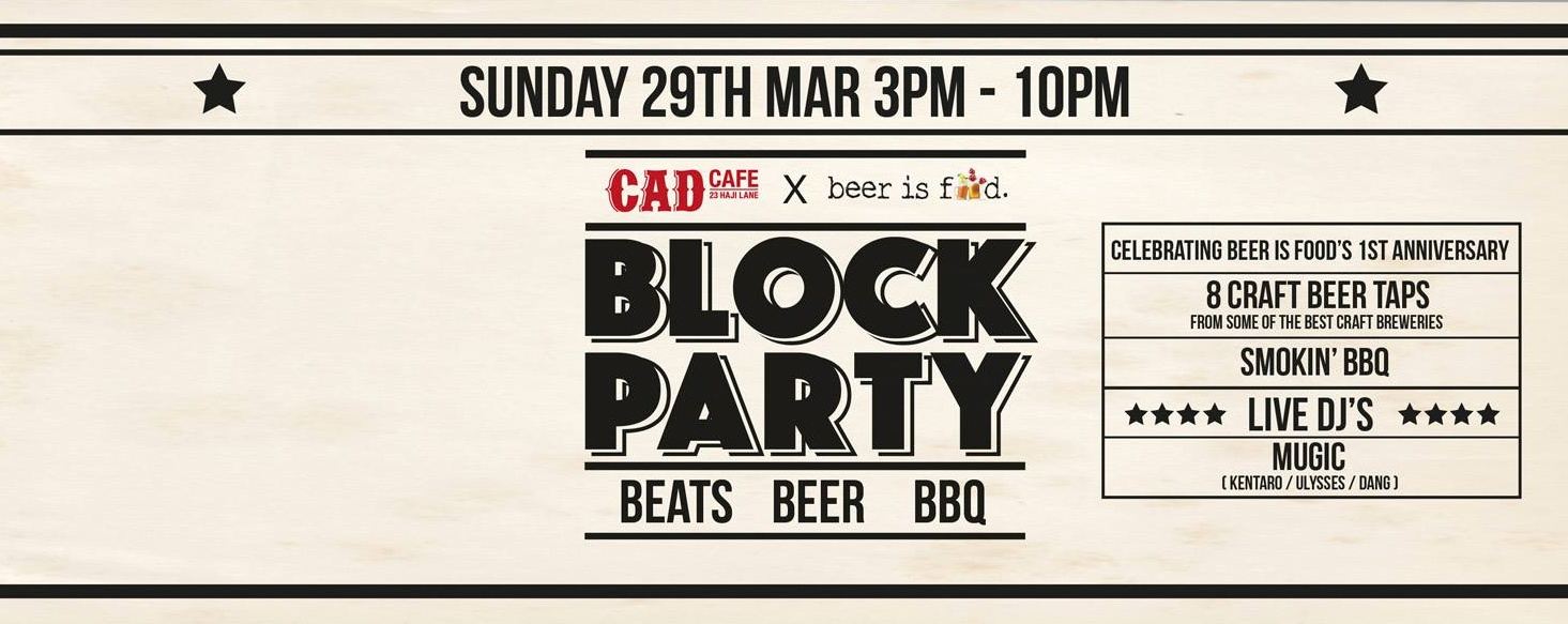 CAD BLOCK PARTY MARCH 29