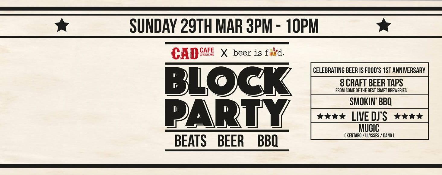 CAD BLOCK PARTY MARCH 29
